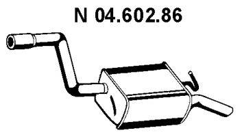 Глушитель выхлопных газов конечный EBERSPÄCHER 04.602.86