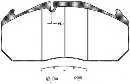 REMSA (НОМЕР: JCA 506.30) Комплект тормозных колодок, дисковый тормоз