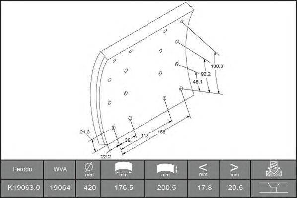 Комплект тормозных башмаков, барабанные тормоза BERAL 1906320606016166