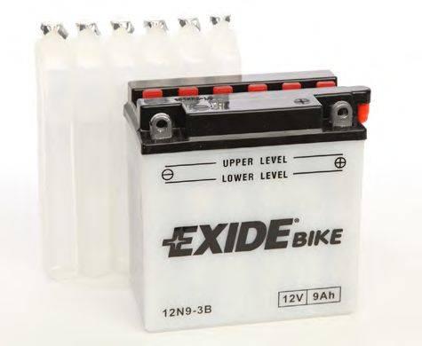 Стартерная аккумуляторная батарея EXIDE 12N9-3B