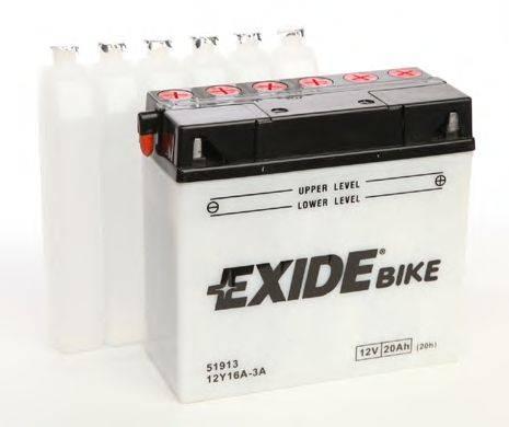Стартерная аккумуляторная батарея EXIDE 12Y16A-3A