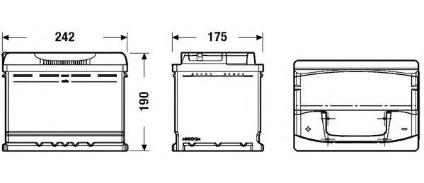 Стартерная аккумуляторная батарея; Стартерная аккумуляторная батарея EXIDE EA601