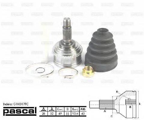PASCAL (НОМЕР: G1K017PC) Шарнирный комплект, приводной вал