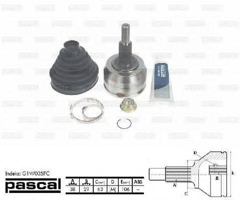 PASCAL (НОМЕР: G1W035PC) Шарнирный комплект, приводной вал