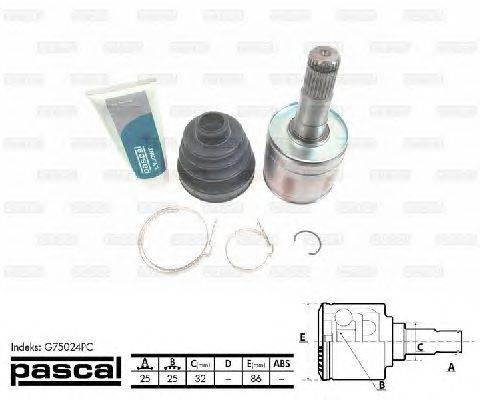 PASCAL (НОМЕР: G75024PC) Шарнирный комплект, приводной вал