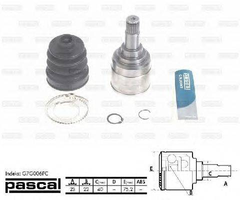 PASCAL (НОМЕР: G7G006PC) Шарнирный комплект, приводной вал