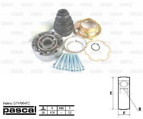 PASCAL (НОМЕР: G7W004PC) Шарнирный комплект, приводной вал
