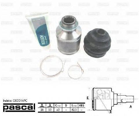 PASCAL (НОМЕР: G83016PC) Шарнирный комплект, приводной вал