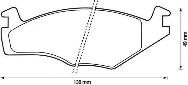 Комплект тормозных колодок, дисковый тормоз BENDIX 571848B