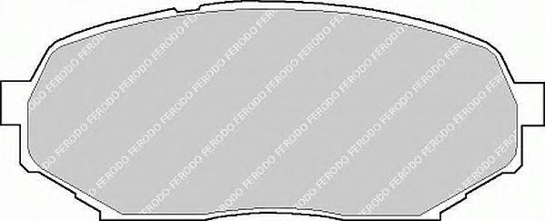 FERODO (НОМЕР: FDB1030) Комплект тормозных колодок, дисковый тормоз
