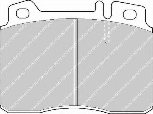 FERODO (НОМЕР: FDB1037) Комплект тормозных колодок, дисковый тормоз