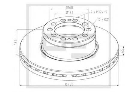 Тормозной диск PE Automotive 016.680-00A
