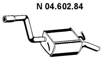 Глушитель выхлопных газов конечный EBERSPÄCHER 04.602.84