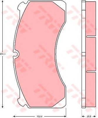 TRW (НОМЕР: GDB5082) Комплект тормозных колодок, дисковый тормоз