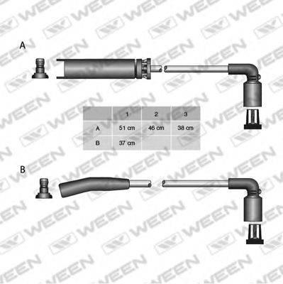 Комплект проводов зажигания WEEN 110-4963
