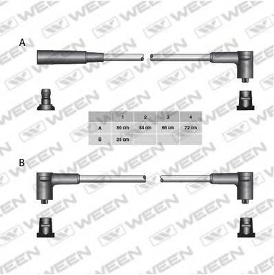 Комплект проводов зажигания WEEN 110-5093