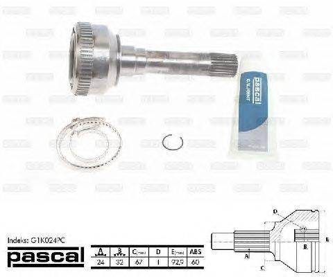 PASCAL (НОМЕР: G1K024PC) Шарнирный комплект, приводной вал