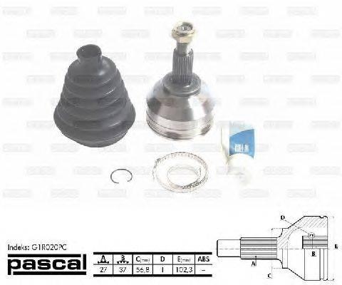 PASCAL (НОМЕР: G1R020PC) Шарнирный комплект, приводной вал