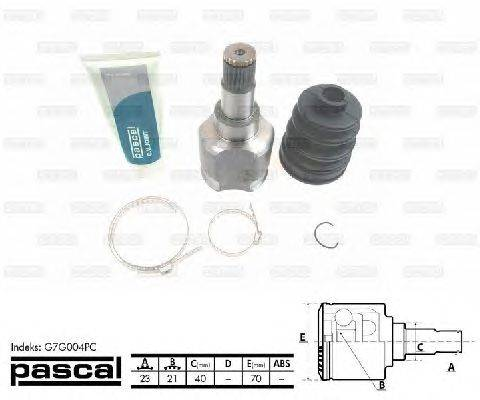 PASCAL (НОМЕР: G7G004PC) Шарнирный комплект, приводной вал