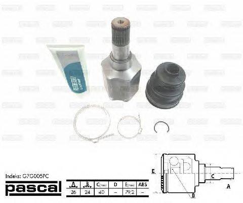PASCAL (НОМЕР: G7G005PC) Шарнирный комплект, приводной вал