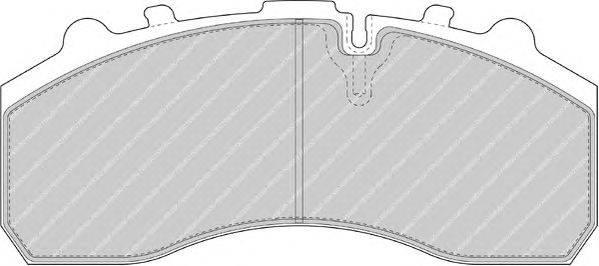 FERODO (НОМЕР: FCV1373DFE) Комплект тормозных колодок, дисковый тормоз
