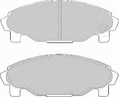 FERODO (НОМЕР: FDB1009) Комплект тормозных колодок, дисковый тормоз