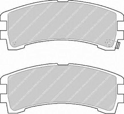 FERODO (НОМЕР: FDB1029) Комплект тормозных колодок, дисковый тормоз