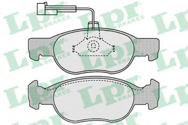 LPR (НОМЕР: 05P652) Комплект тормозных колодок, дисковый тормоз