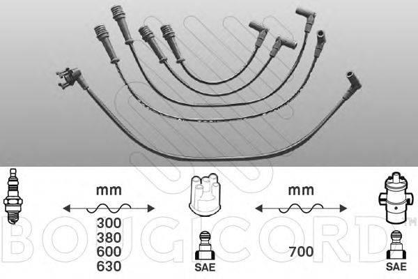 Комплект проводов зажигания BOUGICORD 1412