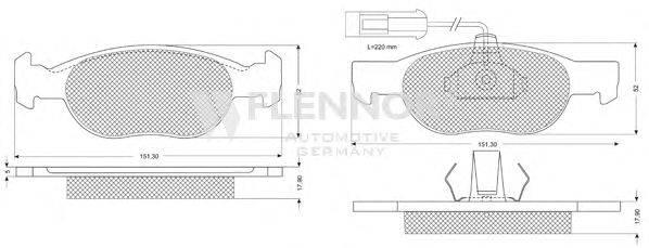 FLENNOR (НОМЕР: FB210293) Комплект тормозных колодок, дисковый тормоз