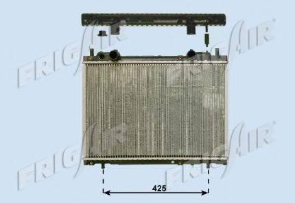 Радиатор, охлаждение двигателя FRIGAIR 0104.3087