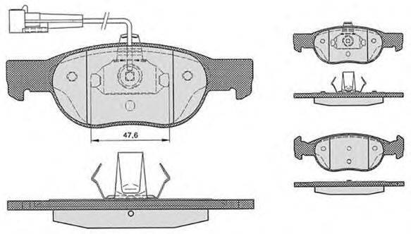 RAICAM (НОМЕР: 612.3) Комплект тормозных колодок, дисковый тормоз
