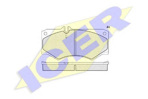Комплект тормозных колодок, дисковый тормоз ICER 140405