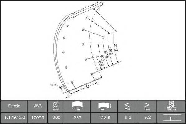 Комплект тормозных башмаков, барабанные тормоза BERAL 1735109306015613