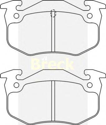 Комплект тормозных колодок, дисковый тормоз BRECK 20635 00 702 10