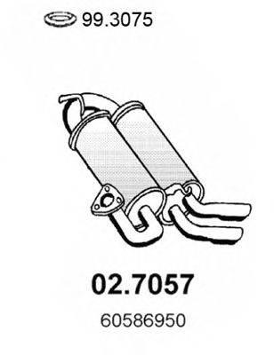 Глушитель выхлопных газов конечный ASSO 02.7057
