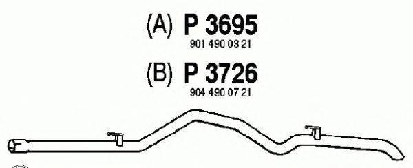 Труба выхлопного газа FENNO P3695