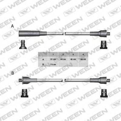 Комплект проводов зажигания WEEN 110-5213