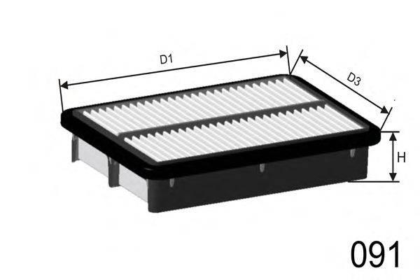 Воздушный фильтр MISFAT P076