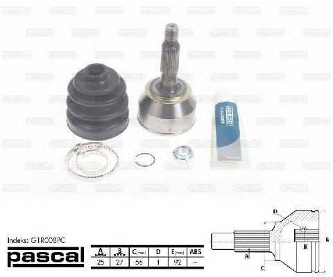 PASCAL (НОМЕР: G1R008PC) Шарнирный комплект, приводной вал