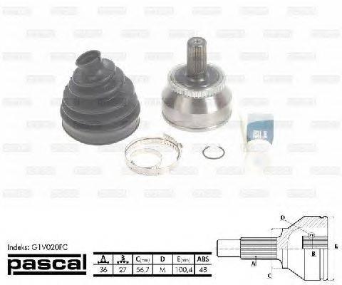 PASCAL (НОМЕР: G1V020PC) Шарнирный комплект, приводной вал
