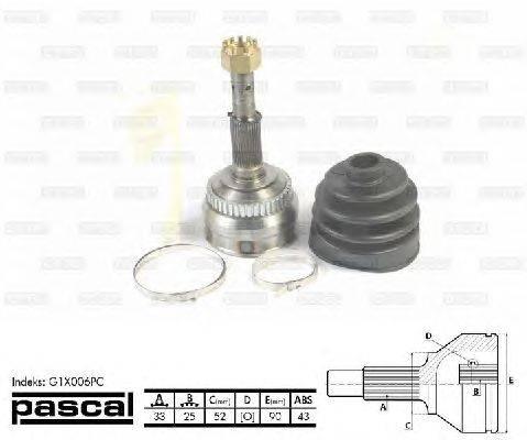 PASCAL (НОМЕР: G1X006PC) Шарнирный комплект, приводной вал