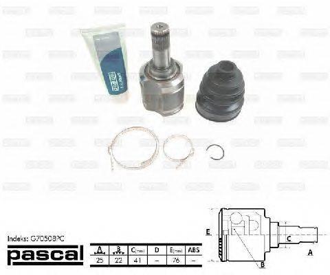 PASCAL (НОМЕР: G70508PC) Шарнирный комплект, приводной вал