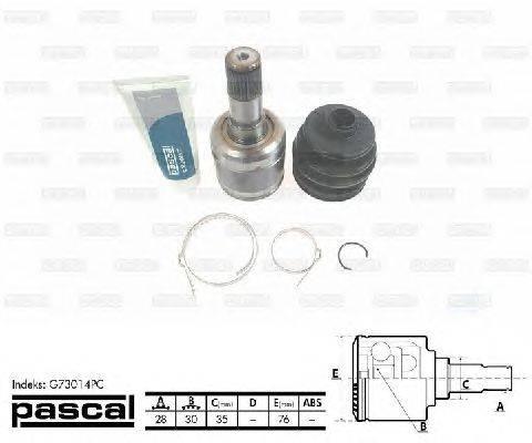 PASCAL (НОМЕР: G73014PC) Шарнирный комплект, приводной вал