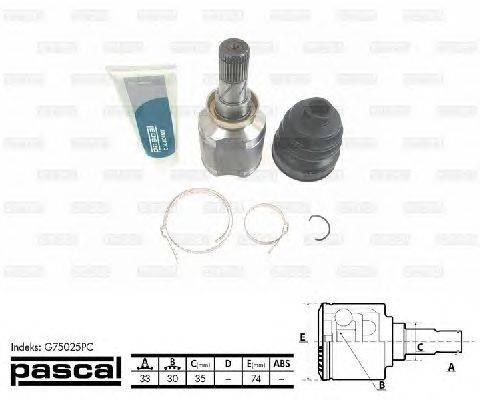 PASCAL (НОМЕР: G75025PC) Шарнирный комплект, приводной вал