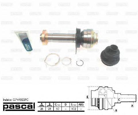 PASCAL (НОМЕР: G7W022PC) Шарнирный комплект, приводной вал