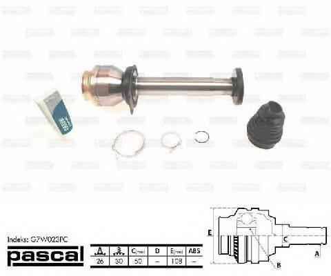 PASCAL (НОМЕР: G7W023PC) Шарнирный комплект, приводной вал