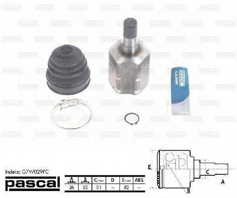 PASCAL (НОМЕР: G7W029PC) Шарнирный комплект, приводной вал