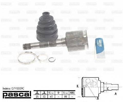 PASCAL (НОМЕР: G7Y003PC) Шарнирный комплект, приводной вал