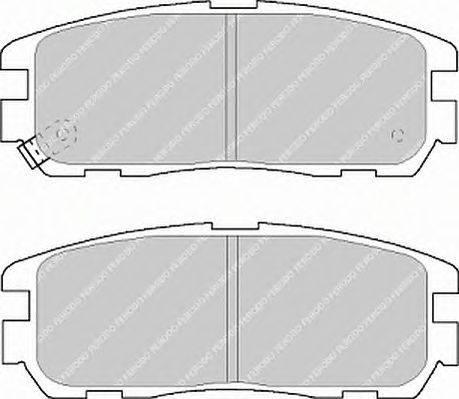 FERODO (НОМЕР: FDB1017) Комплект тормозных колодок, дисковый тормоз